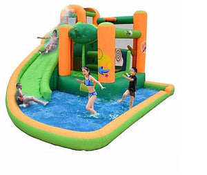 Trampoline inflatable water slide bouncey castle with pool