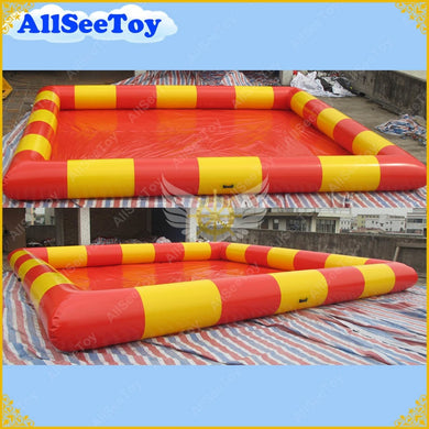 Yellow and Red Inflatable Swimming Paddling Pool