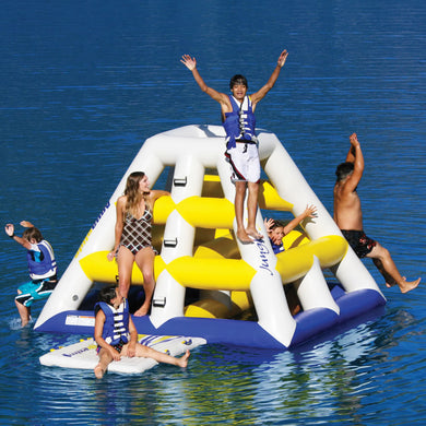 Floating Giant Inflatable inflatable water slide with free blower