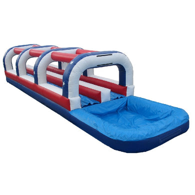 Inflatable water slippery slide with pool