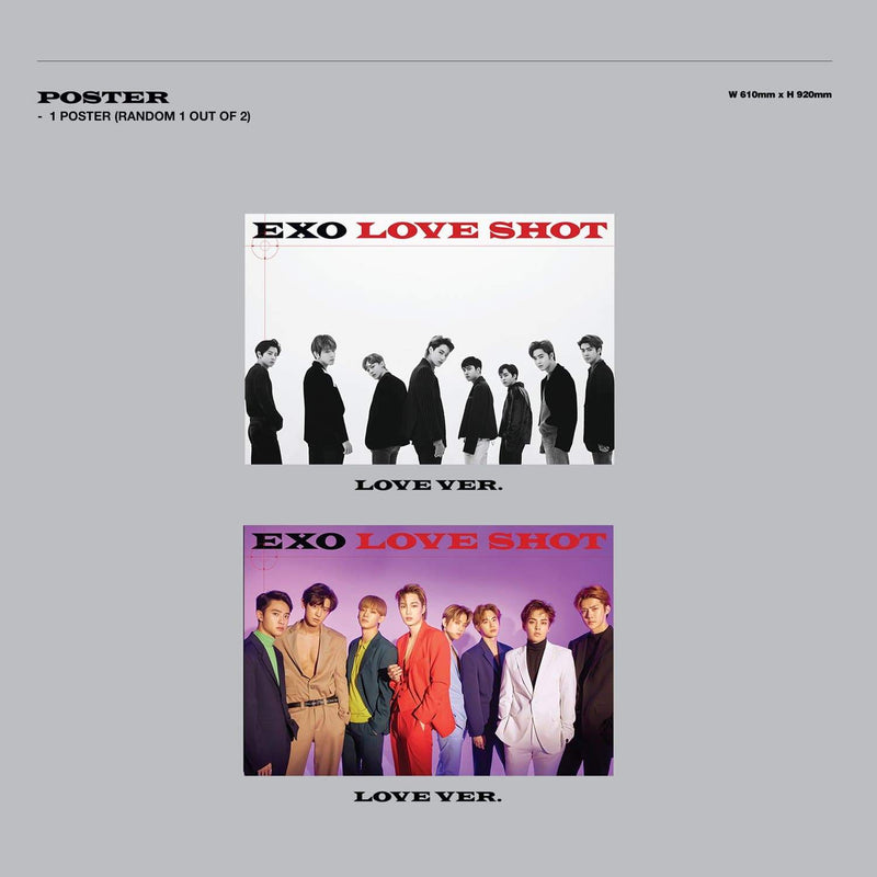 EXO The 5th Album Repackage 'LOVE SHOT' (LOVE VER) Albums EXO
