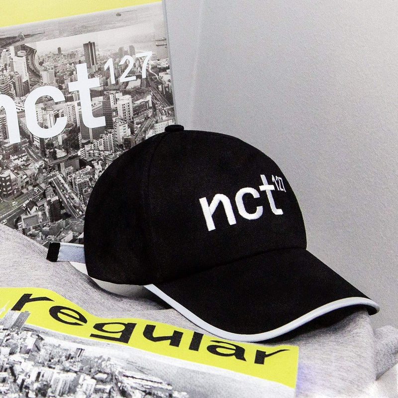 NCT 127 Regular-Irregular Black Dad Hat with Long Strap Hats NCT127