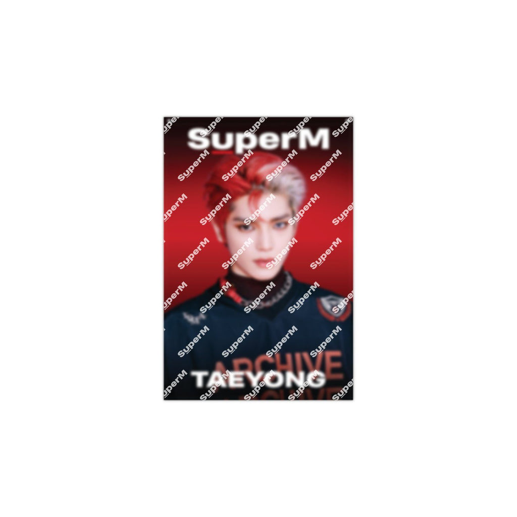 Pre-Order - SuperM '100' AR Fabric Poster [TAEYONG] + Digital Album Accessories SuperM