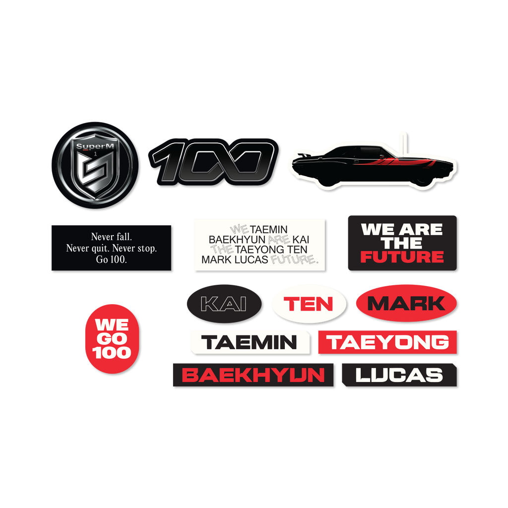 Pre-Order - SuperM '100' Luggage sticker set + Digital Album Accessories SuperM