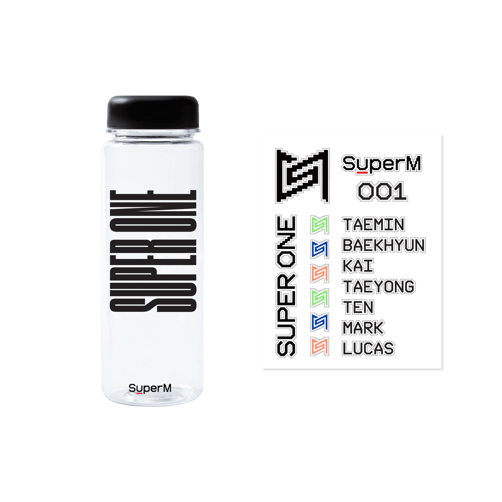 Pre-Order - SuperM 'Super One' Water Bottle with Sticker + Digital Album Accessories SuperM