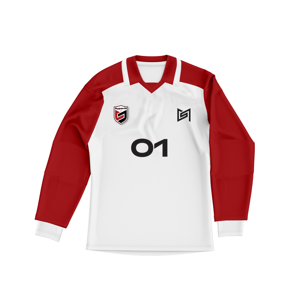 Pre-Order - SuperM 'Super One' White/Red Sports Jersey + Digital Album Hoodie SuperM