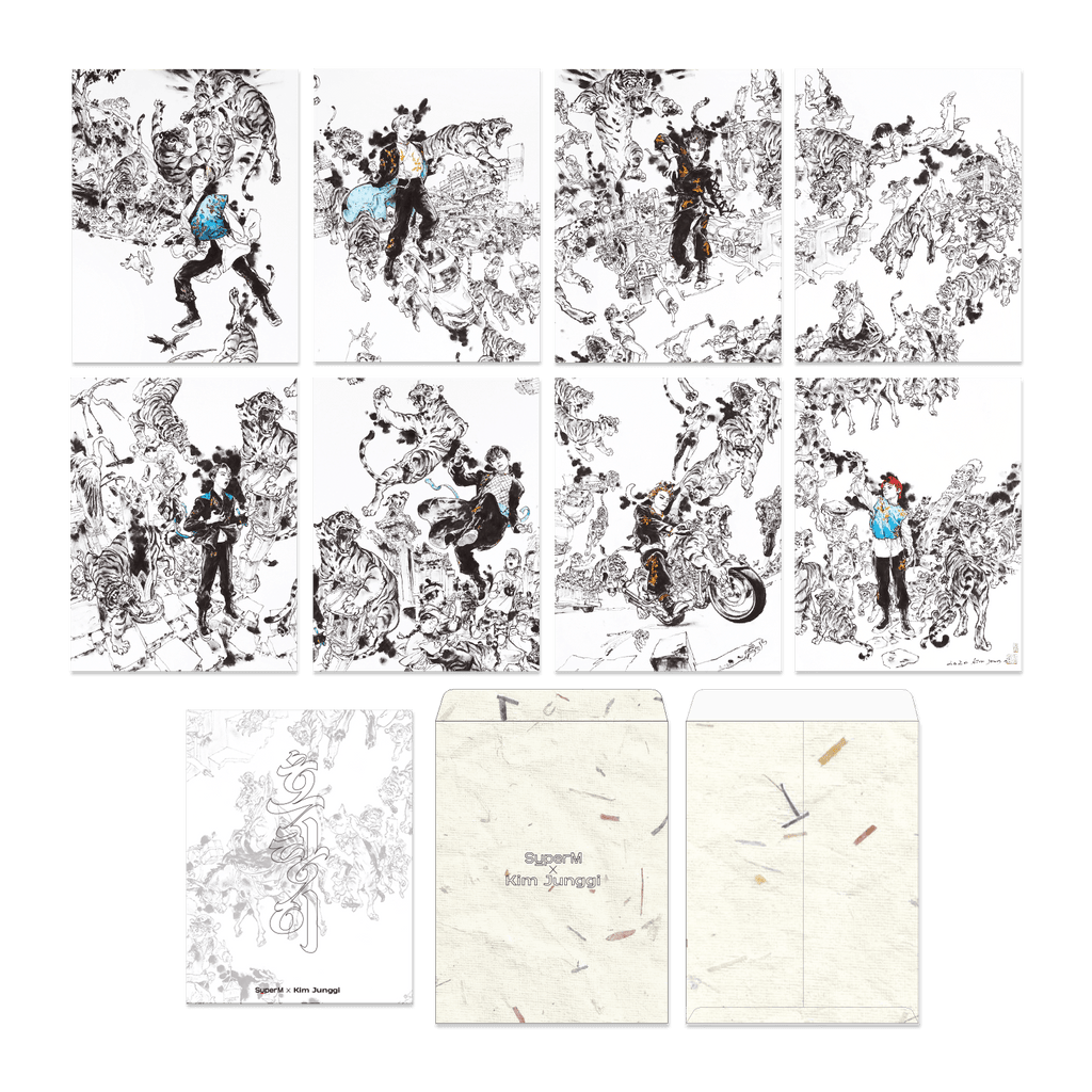 Pre-Order - SuperM X Kim Junggi 'Tiger Inside' coloring paper + Digital Album Accessories SuperM
