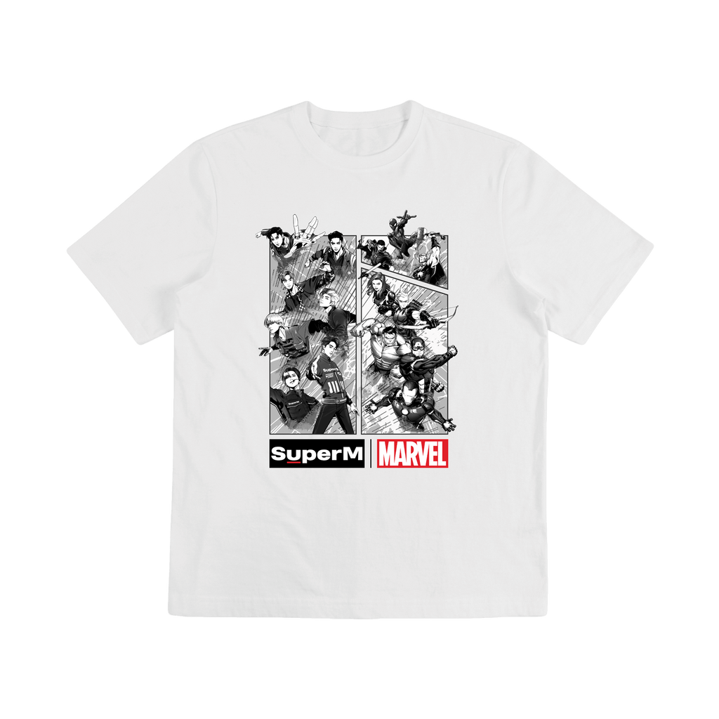 Pre-Order - SuperM X MARVEL Cartoon Graphic T-Shirts + Digital Album Tops SuperM