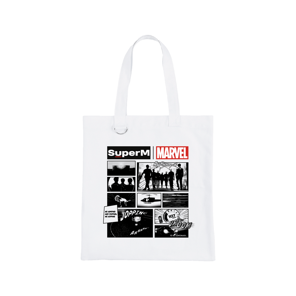 Pre-Order - SuperM X MARVEL Cartoon Print Tote Bag + Digital Album Bags SuperM