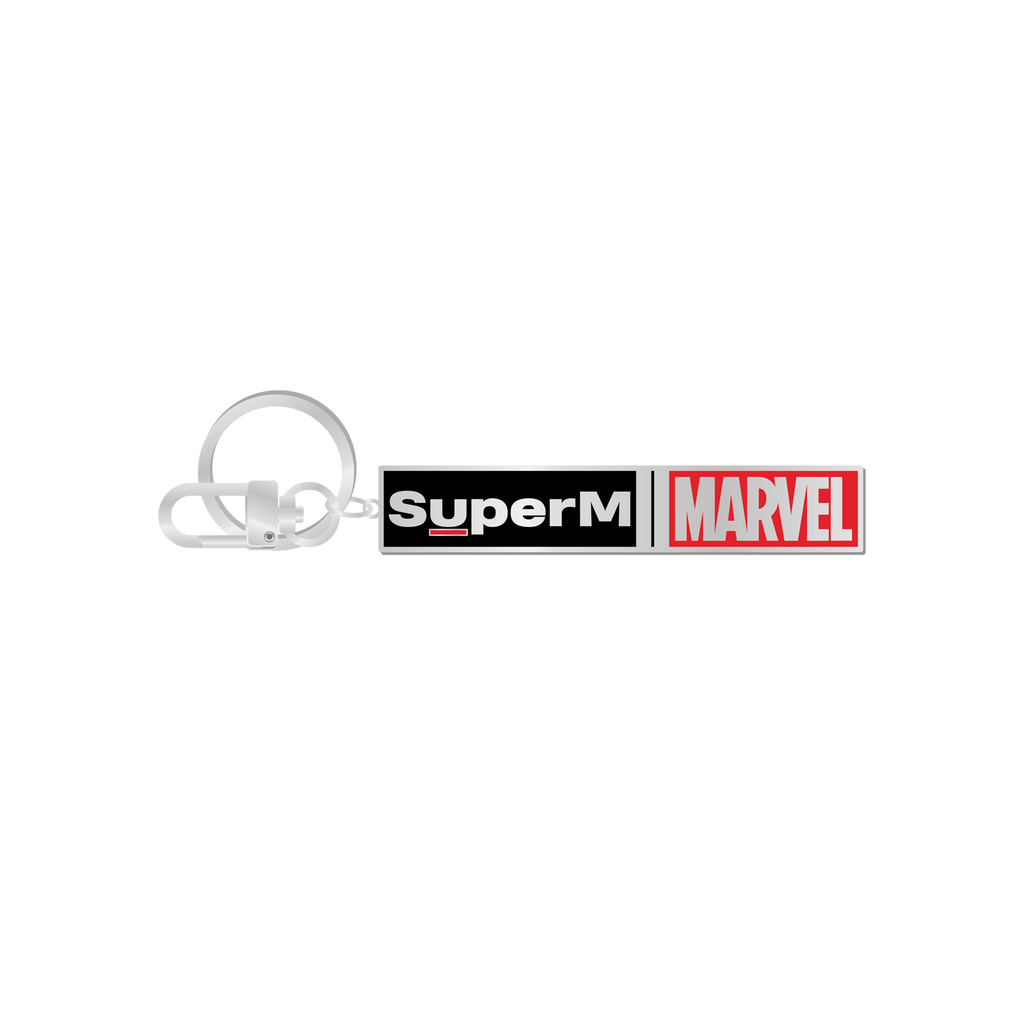 Pre-Order - SuperM X MARVEL Logo Metal Keyring + Digital Album Accessories SuperM