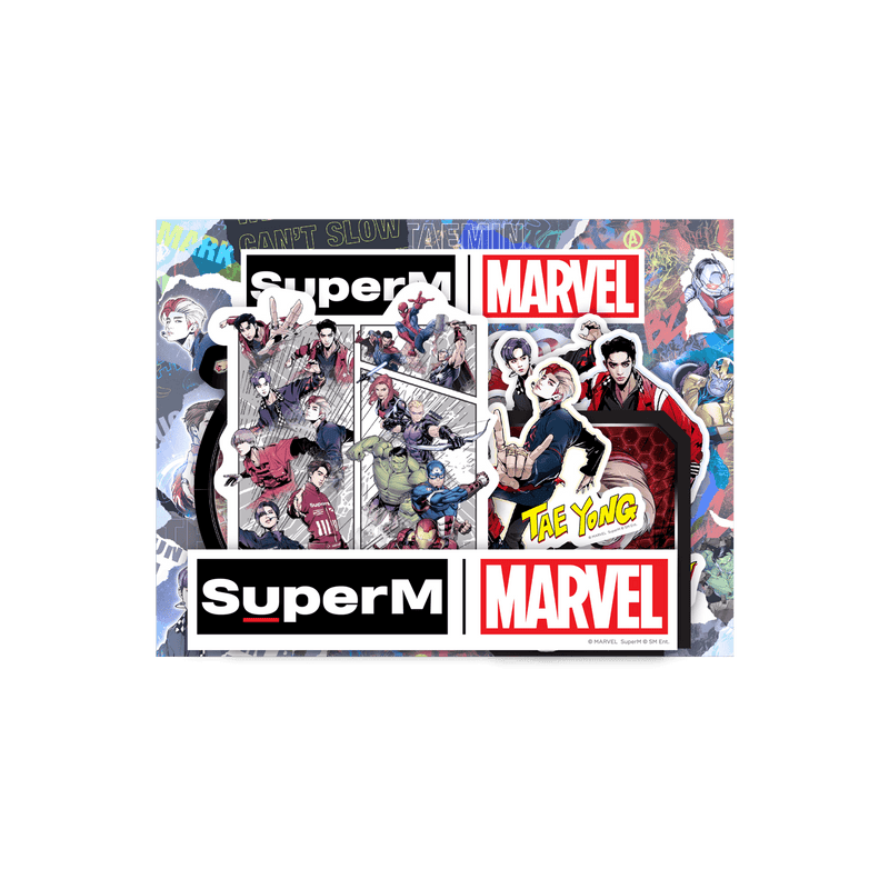 Pre-Order - SuperM X MARVEL Special Package [Comic Type] + Digital Album Accessories SuperM