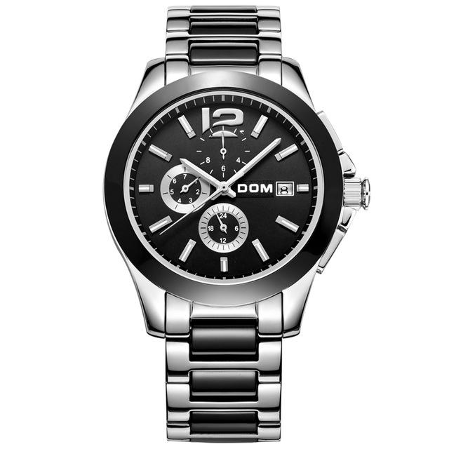 Dom  fully-automatic mechanical watch stainless steel mens watches ceramic  commercial cutout waterproof M-65D