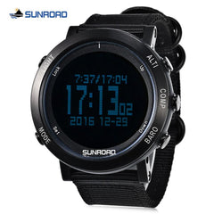 SUNROAD Outdoor Sports Watch Men Women Digital Sport Watches EL Backlight Weather Stopwatch Timer Compass Wristwatch