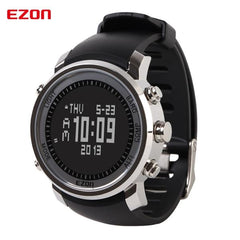 EZON Altimeter Barometer Thermometer Compass Weather Forecast Men Digital Watches Sport Clock Climbing Hiking Wristwatch H506B01