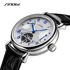 Skeleton Men Self Wind Leather Mechanical Automatic Watch Mens Watches Top Brand Luxury Male Clock relogio automatico masculino