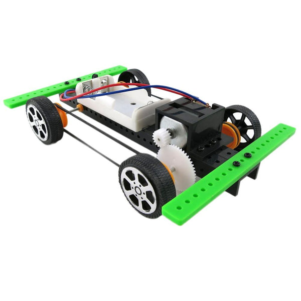 New Self assembly DIY Mini Battery Powered Car Model Kit Children Kids Educational Toy Giftest Wholesale