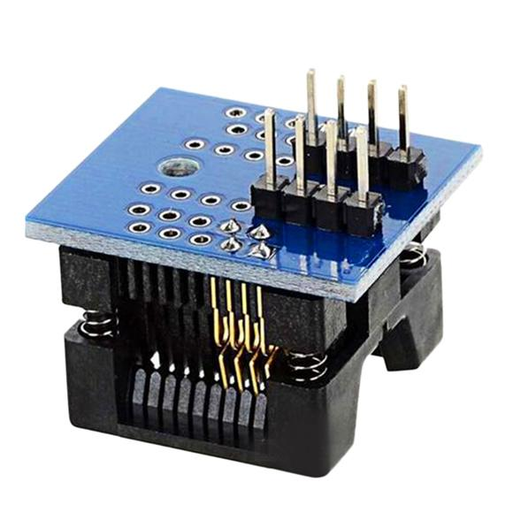 Durable Easy to use SOP8 to DIP8 Wide-body Seat Wide 200mil Pitch Programmer Adapter Socket Board Blue Drop Shipping