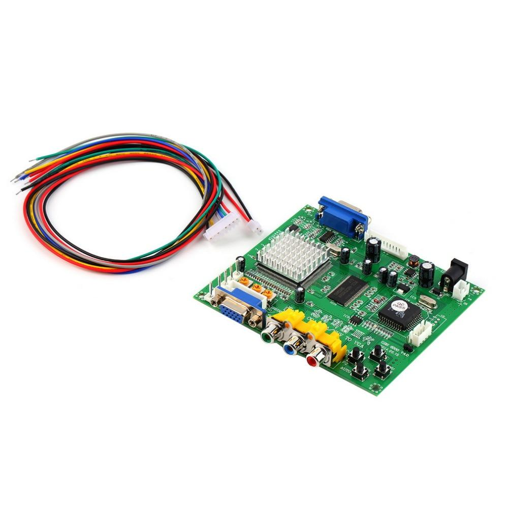 Green 117*100*20 mm 5VDC +/- 0.5v (2A) Arcade Game RGB/CGA/EGA/YUV to VGA HD Video Converter Board HD9800/GBS8200