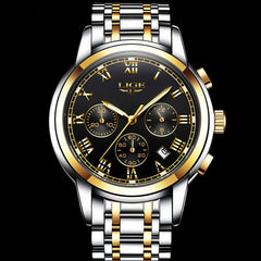 2017 Fashion Luxury Brand LIGE Chronograph Men Sports Watches Waterproof Full Steel Casual Quartz Men's Watch Relogios Masculino