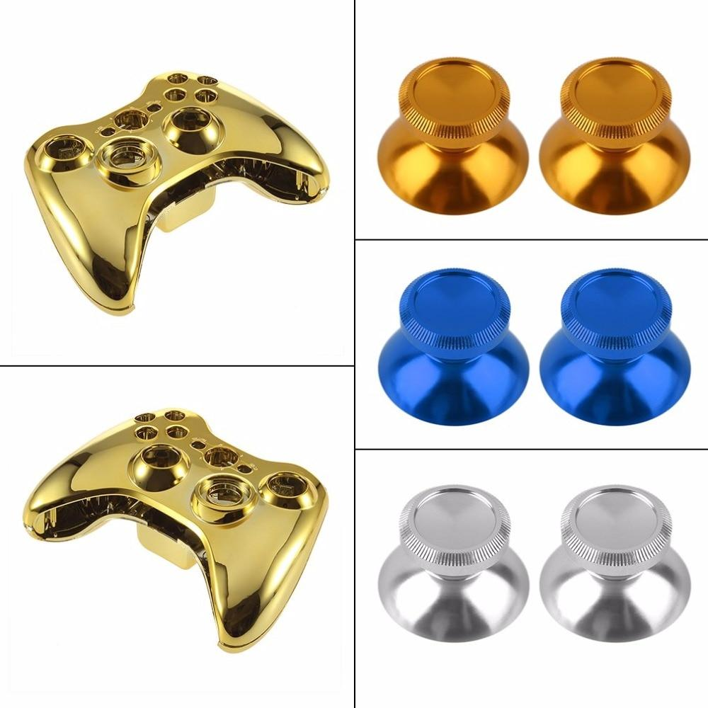 2pcs Universal Aluminum Alloy Metal Analog Joystick Thumbstick Cap For PS4 Xbox One Controller hot new  Hot Drop