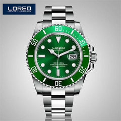 LOREO Christmas Gift Automatic Men Watch Factory Stainless Steel Bracelet Free Shipping With Gift Box Luminous Waterproof AB2280