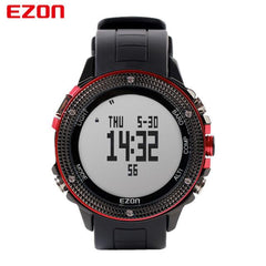 EZON Altimeter Barometer Thermometer Compass Weather Forecast Men Digital Watches Sport Outdoor Fun Climbing Hiking Wristwatch