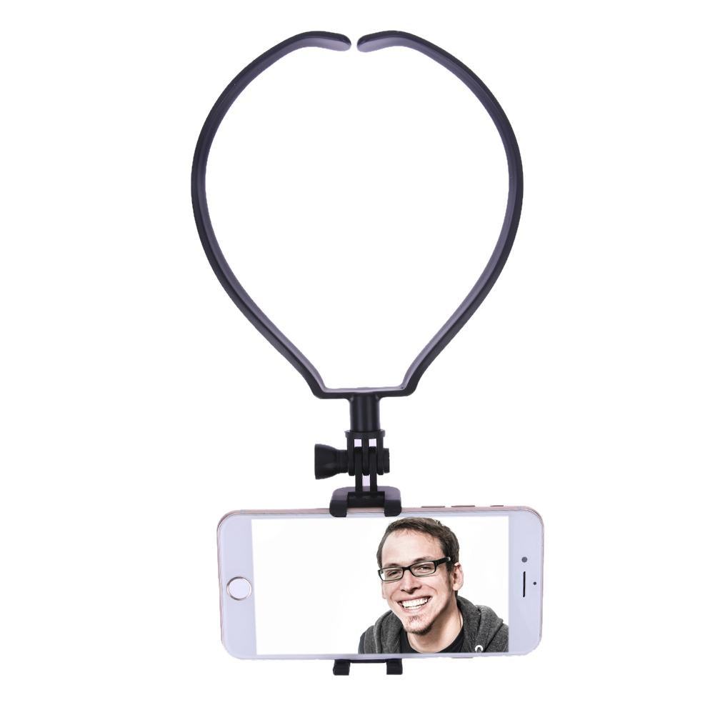 Universal Mini Selfie Stick Hands-free Monopod Shoot Holder Neck Selfie Clamp Mount For Smart Phone
