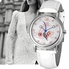 Luxury Watch Women Ladies Fashion Leather Band Mechanical Watch Wrist Watch Montre Femme Relojes mujer 2016   Feida
