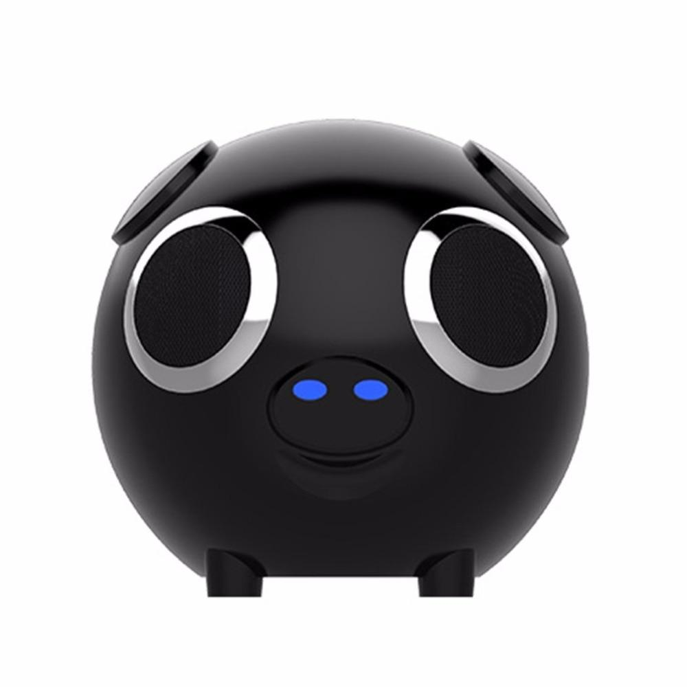 M20 Multifunction 2 in 1 Cute Pig Animal Shape Bluetooth Wireless Speaker Portable Power Bank Loudspeaker FM Radio for Gift