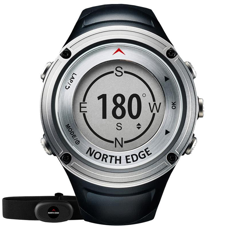 NORTH EDGE Men Sports GPS Heart Rate Monitor Compass Altimeter Barometer Thermometer Watches Bluetooth Pedometer Digital Watch S