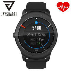 JAYSDAREL Heart Rate Monitor Smart Watch Ticwatch 2 GPS Wireless Charging Music Bluetooth Smart Wristwatch for Android iOs