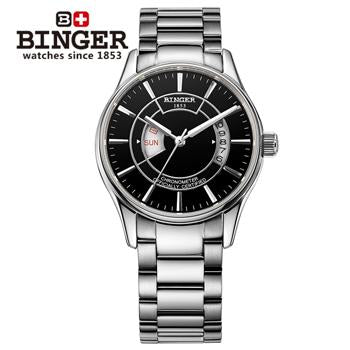 Sapphire Men's Watch Wrist Watches Male Japanese Movement Switzerland Mechanical Men Watch Automatic Binger Luxury Brand B5007