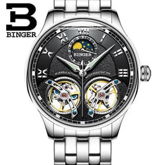 Switzerland Mechanical Men Watches Binger Role Luxury Brand Skeleton Wrist Sapphire Waterproof Watch Men Clock Male Men Watch