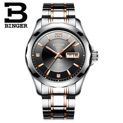 Switzerland Binger Men Watches Luxury Brand Japan Miyota Automatic Mechanical Movement Wrist Sapphire Waterproof Watch Men 8051