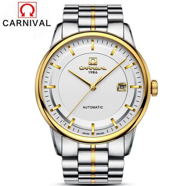 Automatic watch mens mechanical brand luxury CARNIVAL orologi tourbillon clock men sports watch military automatik watch 2017