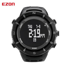 EZON Altimeter Barometer Thermometer Compass Weather Forecast Men Digital Watches Sports Clock Climbing Hiking Wristwatch Hours