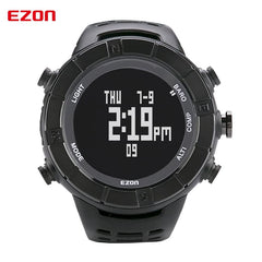 EZON Altimeter Barometer Thermometer Compass Weather Forecast Outdoor Men Digital Watches Sports Climbing Hiking Wristwatch