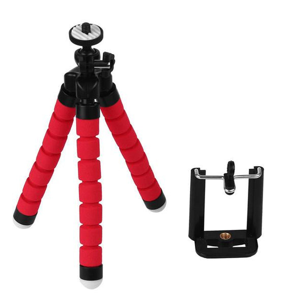 powstro Mini Portable Flexible Tripod with Phone Holder Bracket Stand Tripod Kit for iPhone 6s 7 Xiaomi Samsung HTC  DSLR Camera