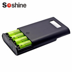 Soshine Professional Charger For 4 Pieces 18650 Batteries LCD Display Replaceable Batteries Power Bank Wholesale