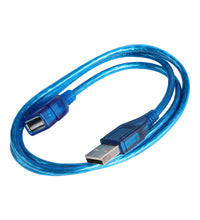 High-quality 1m 3m USB 2.0 Extension Print Cable Transparent Blue Wholesale Extended USB Cables for Cameras Computer Peripherals