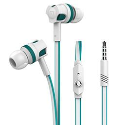 FORNORM Dual Color Aluminum Stereo Earphone Wired In-ear Heavy Bass Headset Handsfree With MIC For  iPhone  Phone