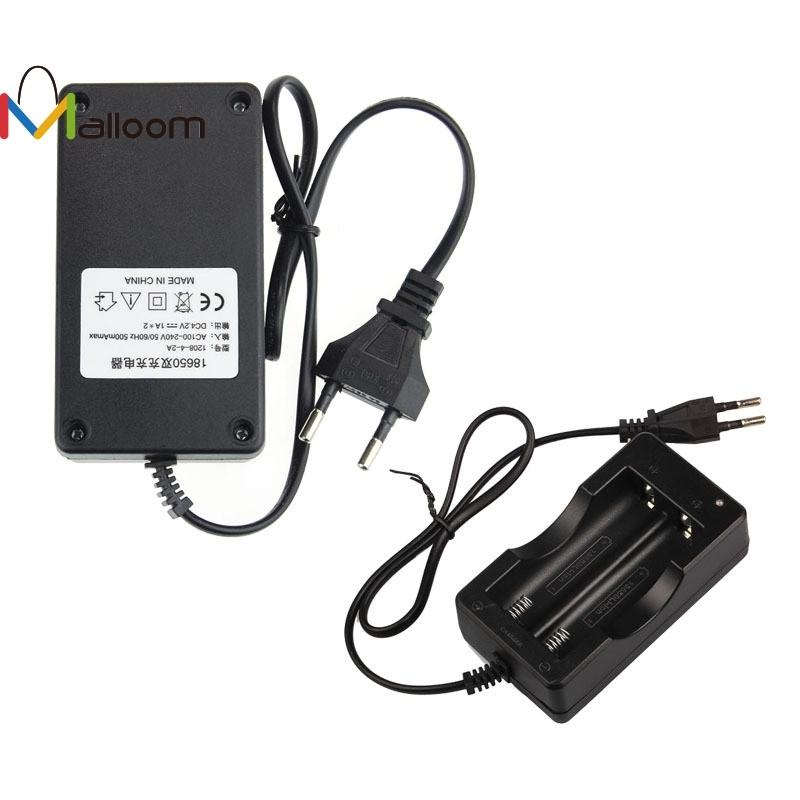 New Black AC 110V/220V 18650 3.7V Rechargeable Li-Ion Dual Battery Charger US&EU Plug Travel Battery Power Adapter Hgih Quanlity