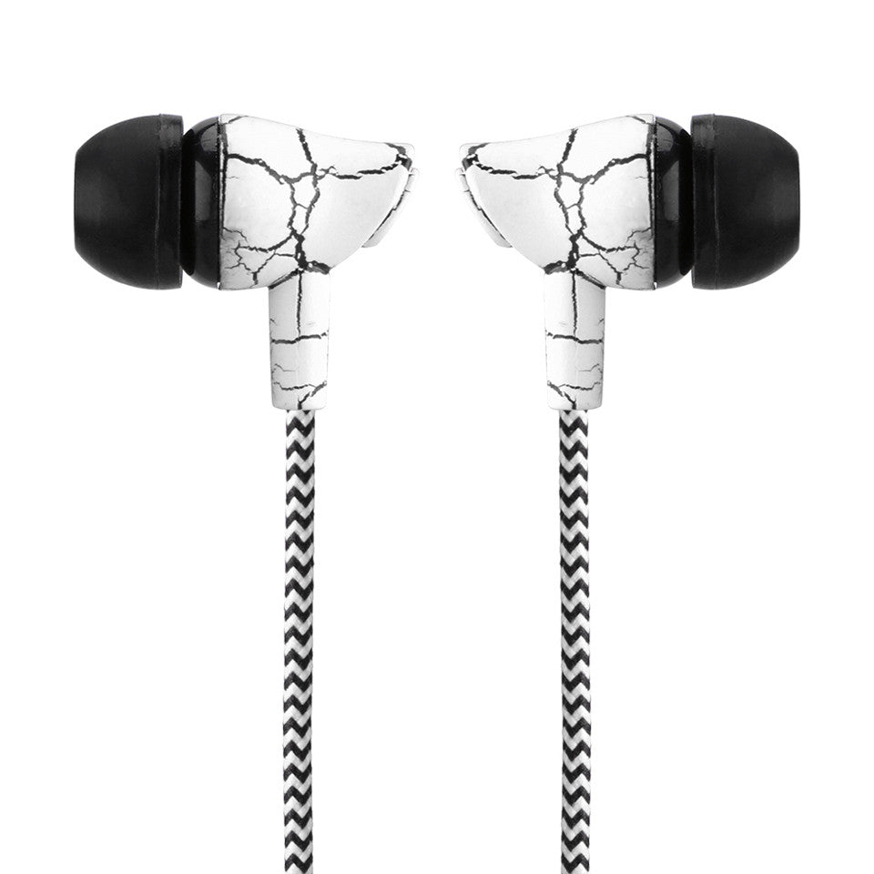 Wired 3.5mm Earphone Cloth Rope Earpieces Stereo Bass MP3 Music Wired Headset with Microphone for Cellphone MP3 MP4
