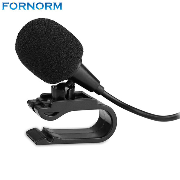 Fornorm 3.5mm Jack Plug Mini Wired External Audio Microphone Stick-on for Car Camera Computer
