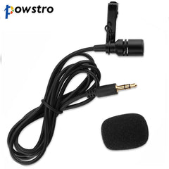 Portable design Mini 3.5mm Microphone with Lapel Clip Plug and Plug for video conference/sound recording