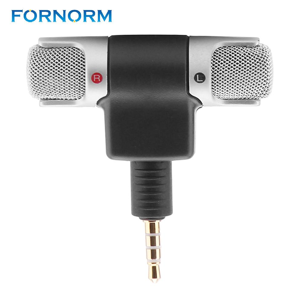 FORNORM 3.5mm Jack Portable Mini Portable Digital Stereo Microphone Recorder for Sony MIC-DS70P Computer Sing Song Karaoke