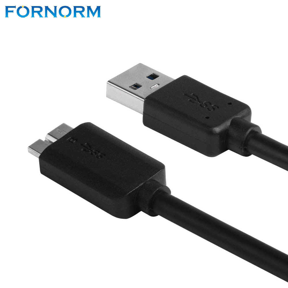 FORNORM USB 3.0 Male A to Micro B Data Cable Cord Adapter Converter With External Power Cable For Mobile Hard Drive Disk 65cm