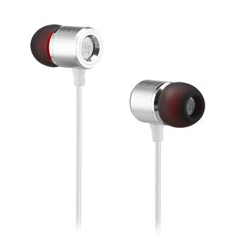 Powstro S1 Metal Earphone In-ear with Microphone Super Bass Headset Earbuds Earpiece Dual Color for Xiaomi Samsung Huawei Iphone