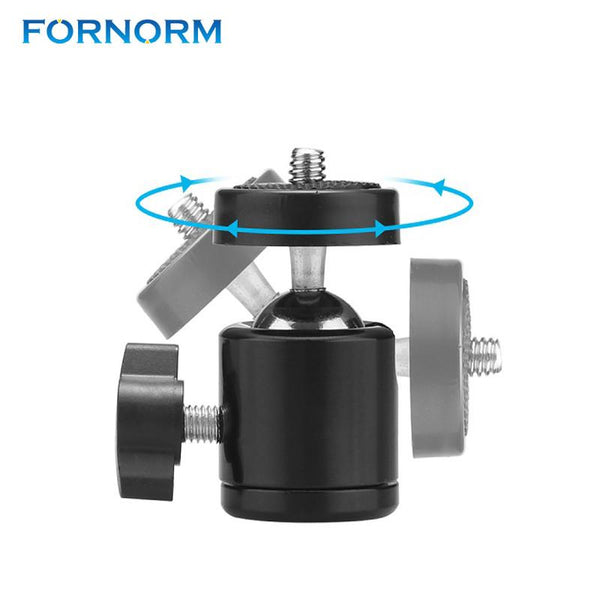 "FORNORM 360 Rotate Mini Tripod Ball Head Ballhead+1/4""Screw Mount Stand 360 Swivel DSLR DV Camera DSLR Camera Accessories"