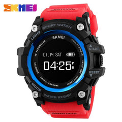 SKMEI Smart Watch Bluetooth Pedometer Calorie Men Heart Rate Sport Watches Digital Wristwatch Military Clocks Relogio Masculino